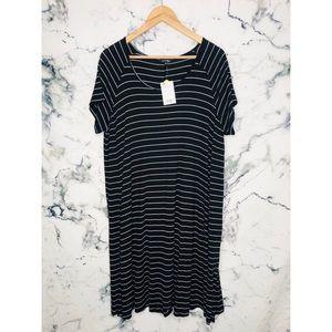 🧡3/$25🧡George Striped T-Shirt Dress Plus Size 2X